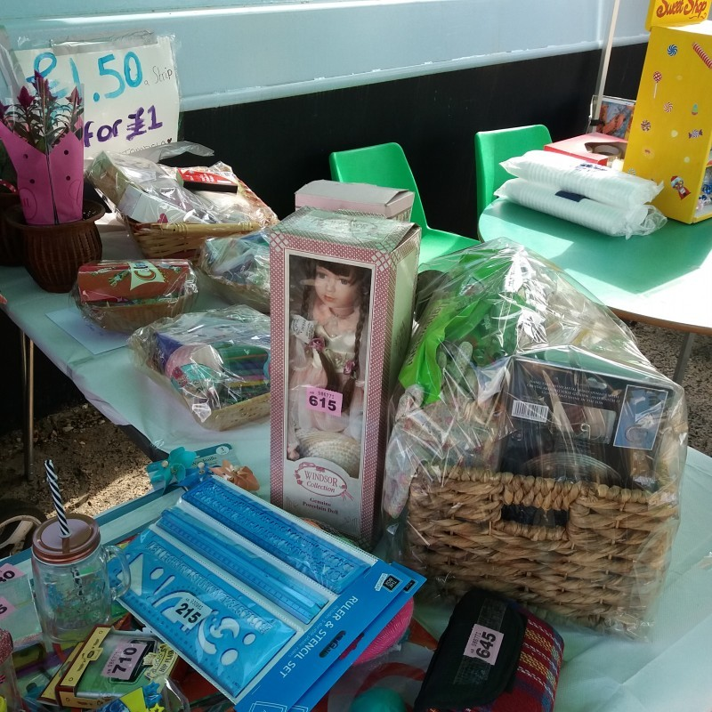 The tombola prizes look great.