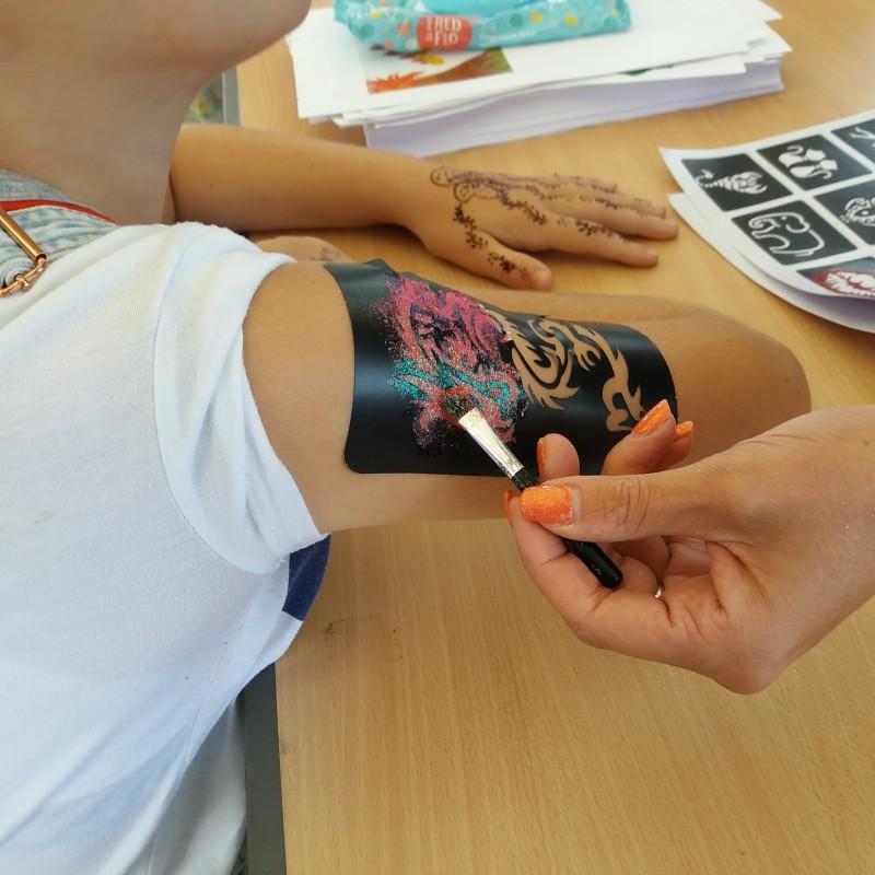 More glitter tattoos.