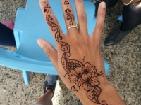 Henna decoration for the day.
